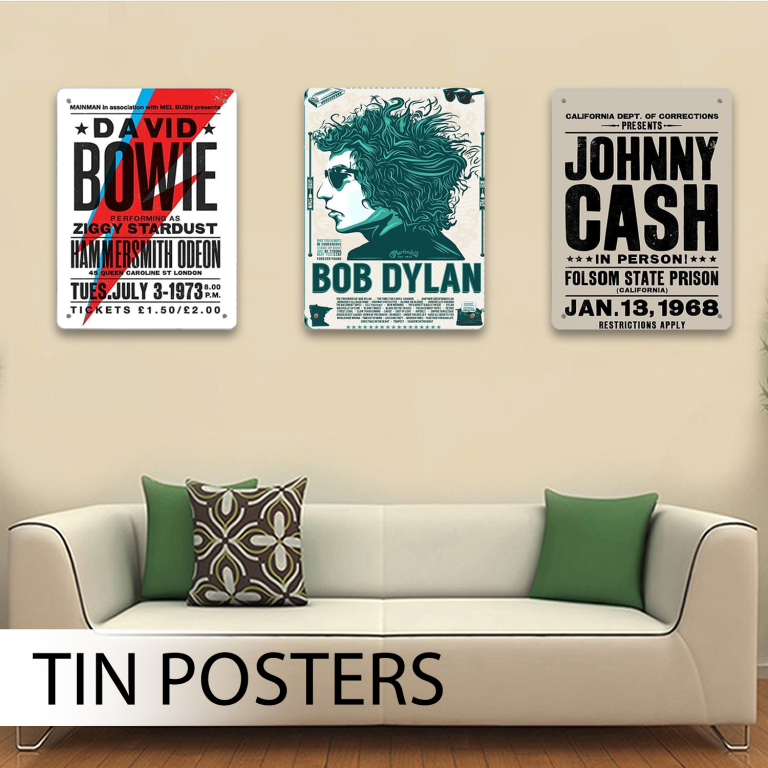 Tin Posters Collection 1